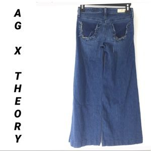 AG THEORY LUXE DENIM JEANS super WIDE LEG palazzo